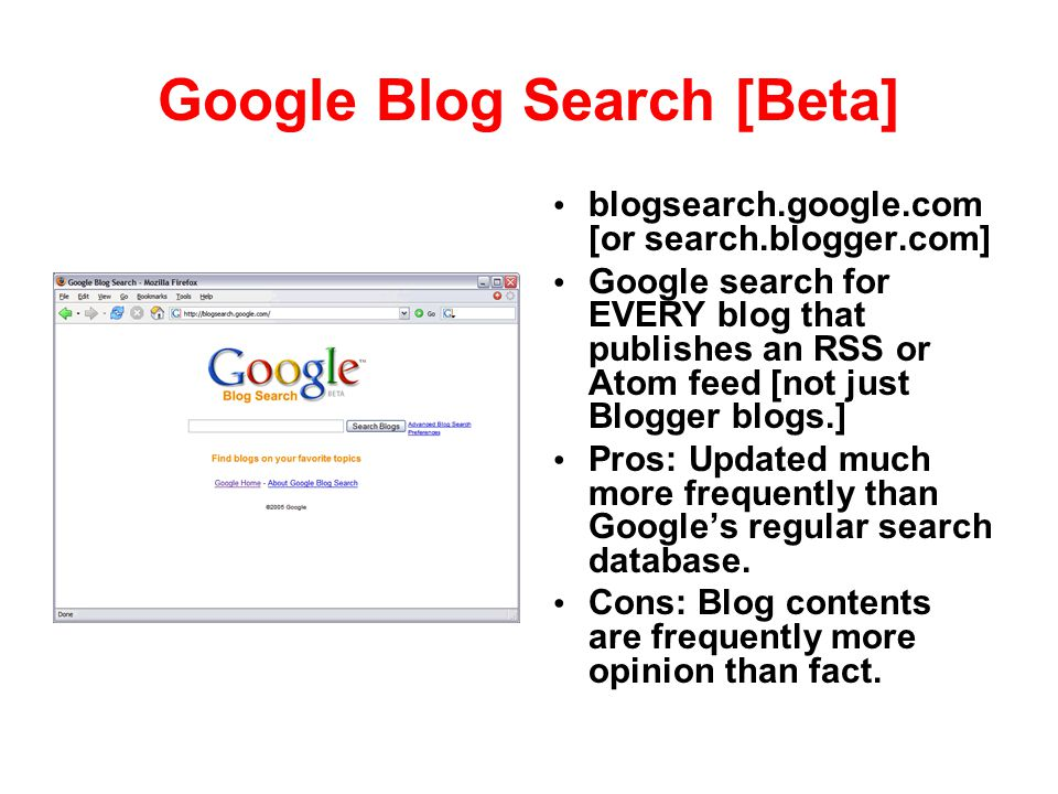 Google Blog Search [Beta]